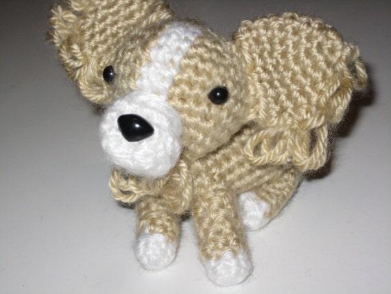 Amigurumi Long Hair : Crochet Amigurumi Dog Stuffed Animal Long hair Chihuahua