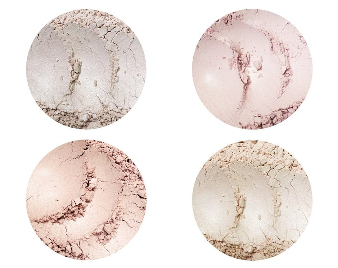 SAMPLE • Highlighting Illuminators • Moon Beam • Champagne • Rose Quartz • Luminous • Loose Powder • Shimmering Perfection • Earth Minerals