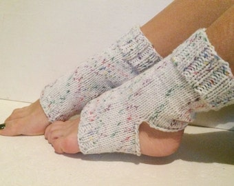 Hand Knit white multicolor Pilates Socks   women multicolors Yoga Socks    Dance Socks Slipper Socks Women  Socks read to shiping