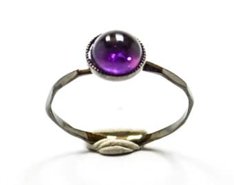 Black Amethyst Knuckle Ring