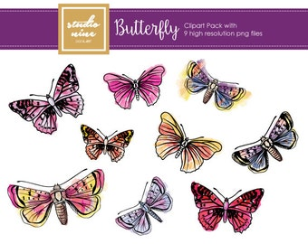 Butterfly Clipart Set