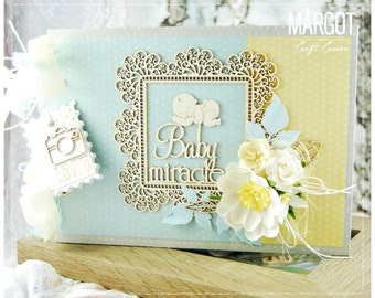 Handmade New Baby Boy Album/ Memory book