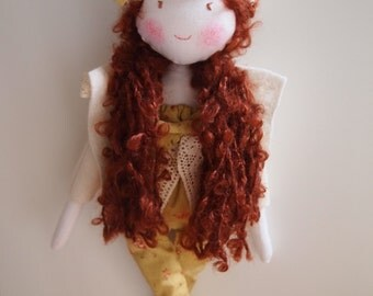 Tami- waldorf inspired ragdoll, cloth doll, rag doll,balerina doll-READY TO SHIP
