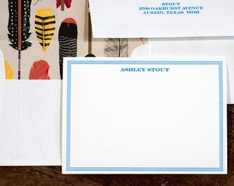 Personalized Letterpress Stationery   Custom Personal Stationery   Letterpress Correspondence Card   Personalized Flat Correspondence Card