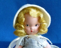 Nancy Ann Bisque Storybook Doll, Mary Had a Little Lamb, #152,