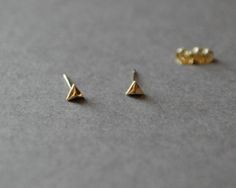 "Triangle Earring Type B ""GOLD"" Gold plated over Sterling Silver"