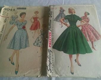 1950s women's sewing patterns simplicity vintage antique