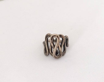 Vintage Sterling Silver Twisted Ring Size 4.5