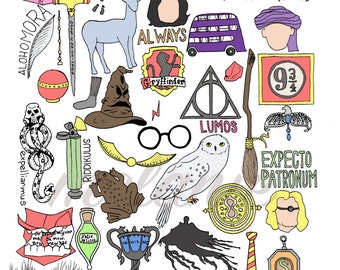 Harry Potter Ultimate Fan Package! (Print-11x14) - FREE SHIPPING