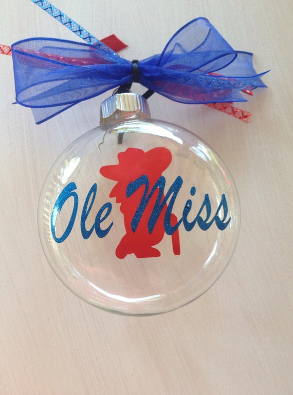 Ole Miss Christmas Ornament Personalized By TallahatchieDesigns