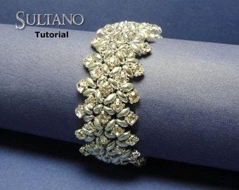 Tutorial Sultano Bracelet - beading pattern