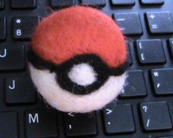 POKEMON  Needle Felted Ball  2 X 2 Inches