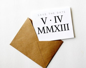 Roman Numeral Save The Date Cards | Digital Download