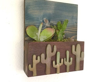 READY TO SHIP: Cacti Cut Out Succulent and Cacti Vertical Garden || Living Wall || Wall Planter