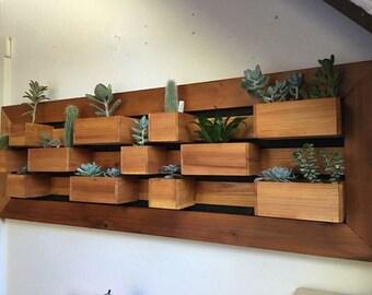 Modern Large Vertical Succulent Garden, Living Wall Planter, Garden Wall Art, Succulent Garden, Wall Garden, Succulent Planter Box.