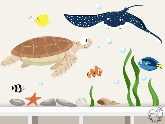 Wandtattoo unterwasserwelt 5 ozean meerestiere - Wandtattoo unterwasserwelt ...