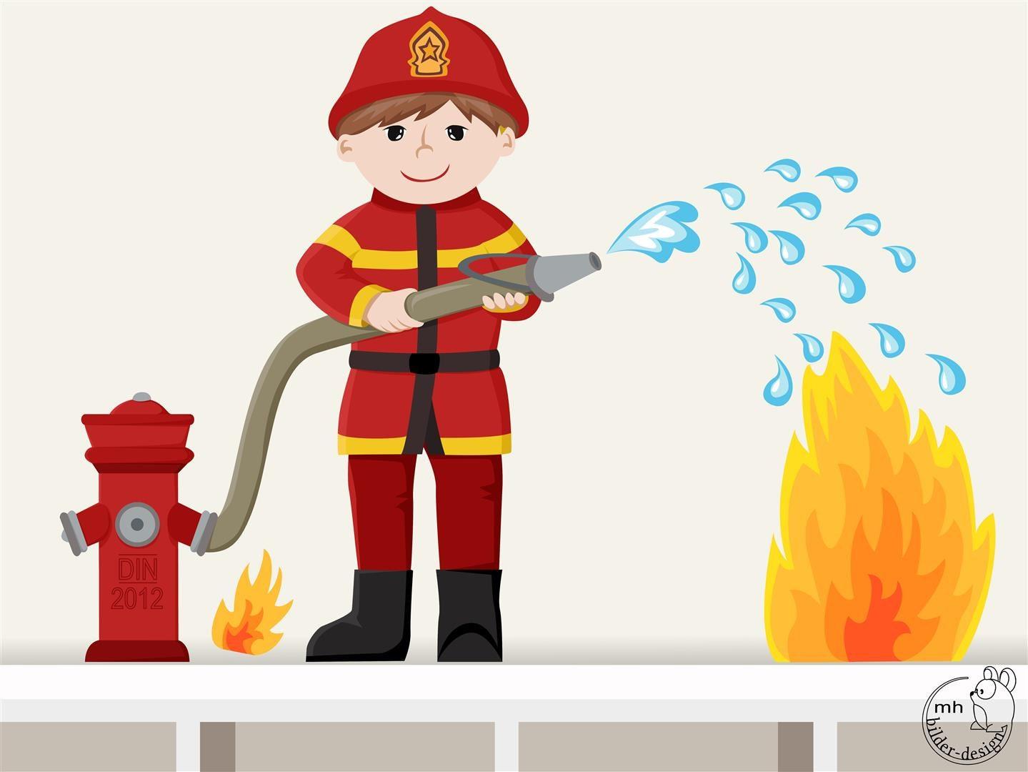 Wandtattoo feuerwehrmann individualisierbar - Feuerwehr wandsticker ...