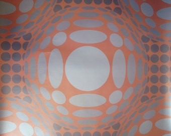 SUMMER SALE! Victor Rust Unpasted Wallpaper on pearlized Mica paper