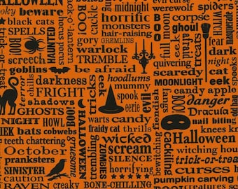 RJR Fabrics Beggars Bounty 2297 02 Orange Halloween Yardage by Patrick Lose