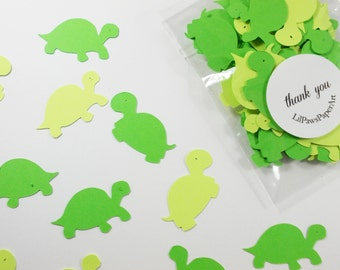 "Turtle Party Decoration, Turtle Confetti,  Birthday Party, Baby Shower, Party Decorations, Table Confetti 1.5"" 100 Ct."