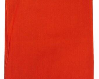 """Orange Solid Bandana -  27"""" x 27"""" (extra large) 100% Cotton"""