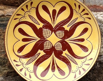 Hearts and Tulips - Pennsylvania Redware -  SG456