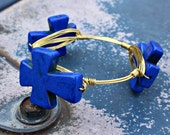 Bourbon and Boweties inspired Large Cross Bangle!  Available in Several Colors!  Great Gift!