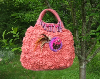 BAG: hand made in wool crochet free style dimensions: 40 cm X 32 cm