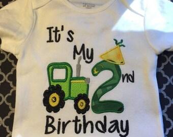 It's My 2nd Birthday  Tractor.......Shirt