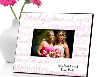 Personalized Maid of Honor Frame - Bridesmaids Gift (650)