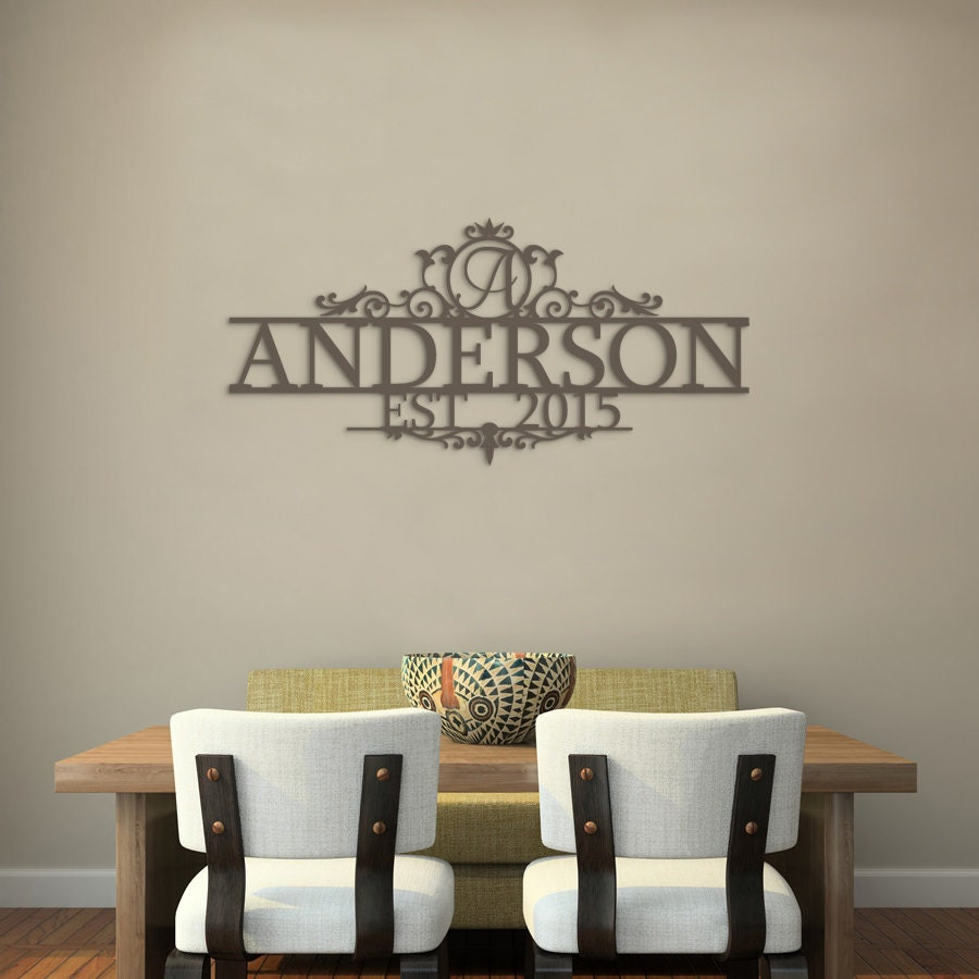 Wood Name Wall Decor : Last name wood sign wall art