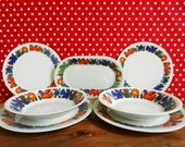 Acapulco 2 people dinner set (7 pieces) Villeroy&Boch Old Milano Mid.Century 70s