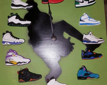 Nike Air Jordan Retro Sneaker Clock- Retro 1-12s