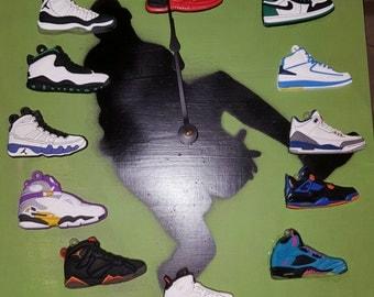 Nike Air Jordan Retro Sneaker Clock- Retro 1-12s