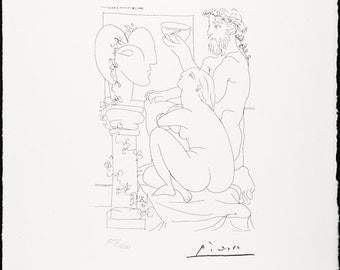 PABLO PICASSO - Vollard suite Plate 44 - mint hand numbered lithograph - c1973 (Arches paper. SPADEM, Paris)