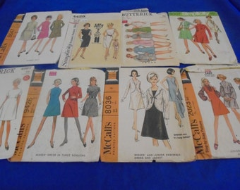 U Pick 1960s Sewing Patterns Rockabilly Dresses  Minidress