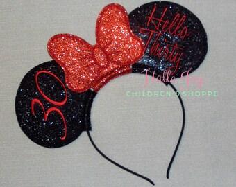 Custom Birthday Ears Headband