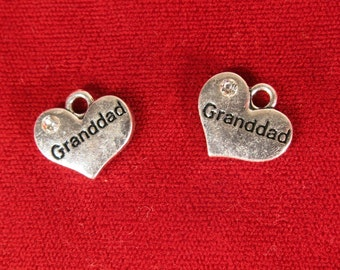 """5pc """"Granddad"""" charms in antique silver style (BC1059)"""