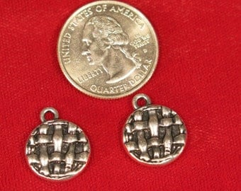 """5pc """"pie"""" charms in antique silver style (BC859)"""