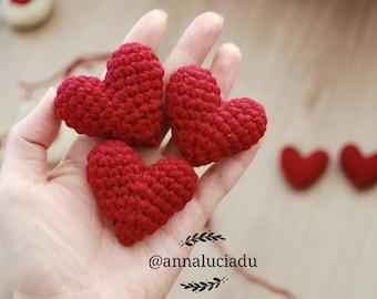 Crochet heart, crochet amigurumi heart, wedding heart, handmade heart, gift heart, heart pattern, valentine heart, PDF Instant Download