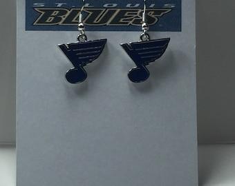 St Louis Blues Charm Earrings
