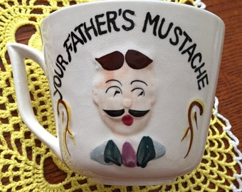 Vintage Moustache Cup So cute for Display