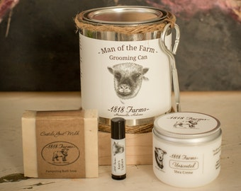 Man of the Farm Grooming Can - 1818 Farms - Unscented Man's Gift - Goat's Milk