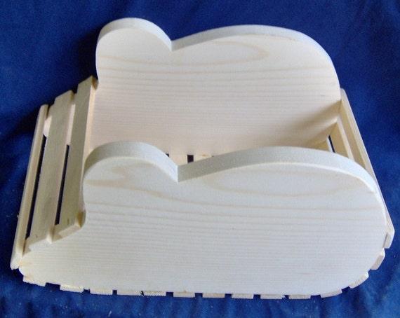 Wooden Mouse Basket / Planter