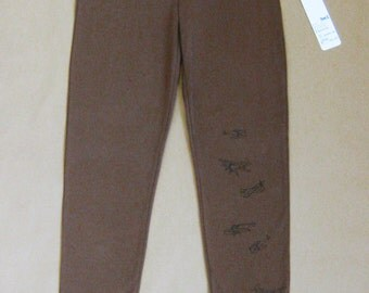Women's legging - Strech pants - Comfortable - Yoga - Exercise - Long leg - Large waistband - Screen print - Legging La Voie Lactée noir