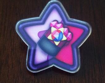 Garnet Star Pin