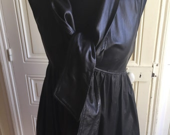 Beautiful lamb leather dress from Manoush