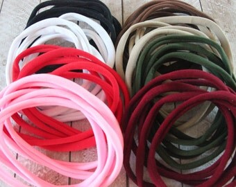 Nylon Headbands  - WHOLESALE NYLON headbands - You pick color nylon headbands - Skinny Hair Headband