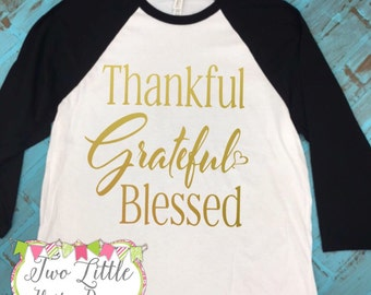 """Shop """"thankful grateful blessed shirt"""" in Boys' Clothing"""