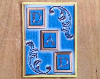 Dad Card, Fathers Day Card, Blue Dad Card, Father's Day Card, Happy Fathers Day, Happy Father's Day, Card For Dad, Fathers Day, Father's Day